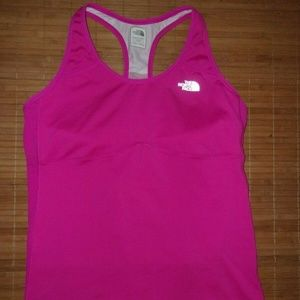 North Face Vapor Wick Hot Pink Racer Back Top XL
